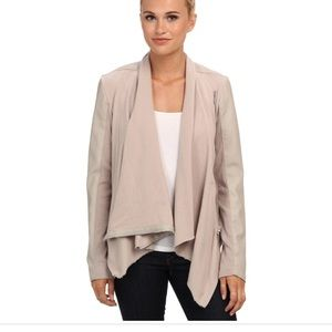 [BLANKNYC] Faux Leather And Ponte Jacket in Taupe